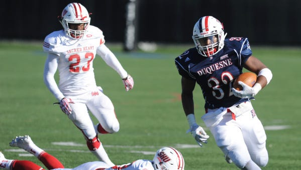 AJ Hines rushed for over 1,200 yards last year and won the Jerry Rice Award as the top freshman in FCS football