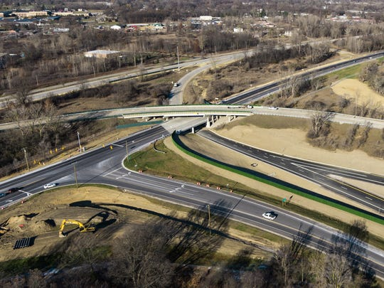 A triple-decker overpass is part of the test track at the American Center for Mobility's 500-acre driverless car proving ground at Ypsilanti's Willow Run.