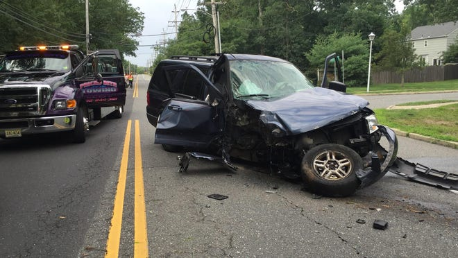 A crash on Whitesville Road caused a power outage in Toms River on Sat. July 18, 2015