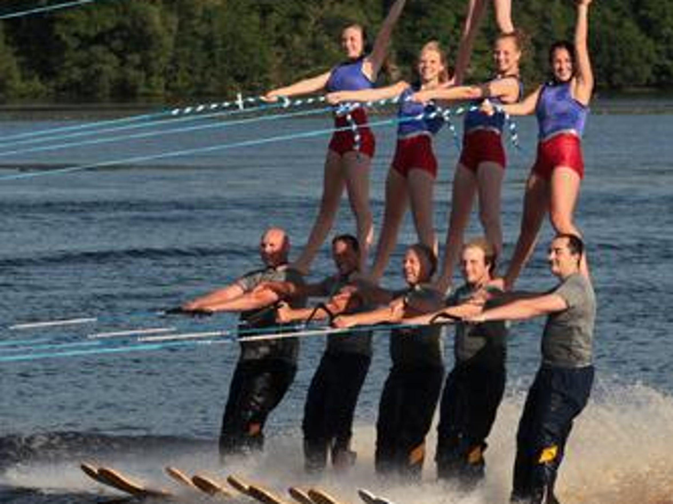 The Water Walkers Water Ski Show Team performs in 2013 on Lake Wausau.
