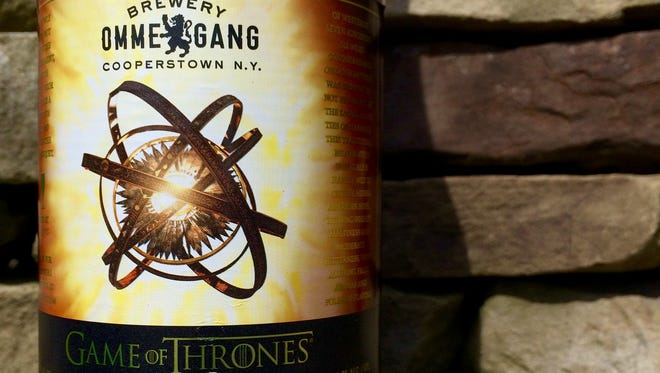 Seven Kingdoms is a hoppy wheat ale from Brewery Ommegang in Cooperstown, N.Y.