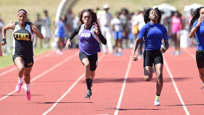 Mississippi School for the Deaf's Shanieka Coleman defended her title in the Class 1A 100 meter dash on Saturday, May 7, 2016, at the MHSAA Class 1A-3A-5A State Track Championships at Pearl.