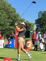 Brighton's Allyson Geer tied for 135th, shooting 7-over-par