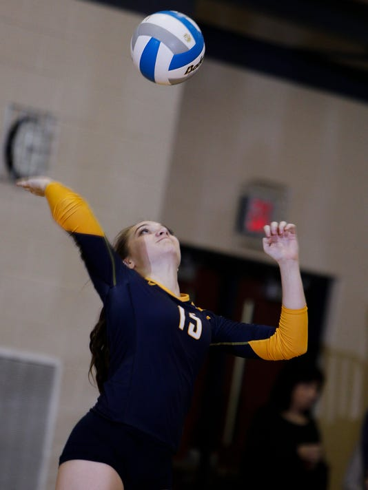 Class A District Volleyball semifinal - Grand Ledge, 3, Waverly, 2