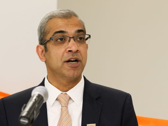 Ashok Vemuri, chief executive officer, speaks during