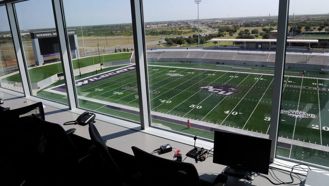 The view from the press box in Chuck Sitton Tower at Abilene Christian University's Wildcat Stadium Thursday Sept. 7, 2017.