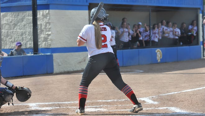 Cardington's Baylee Adams blasted a three-run home run in the first inning of the regional semifinal.