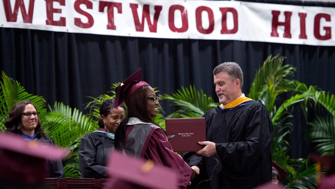 The 2017 Fort Pierce Westwood High School commencement ceremony takes place Thursday, May 25, 2017, at the Havert L. Fenn Center in Fort Pierce.