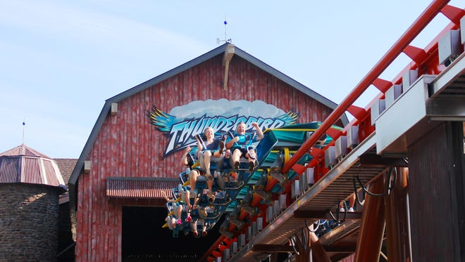 While participating on HGTV's House Hunter's television show, Tom and Terri rode Holiday World's Thunderbird roller coaster.