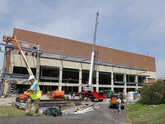 The $87-million renovation of Fifth Third Arena continues