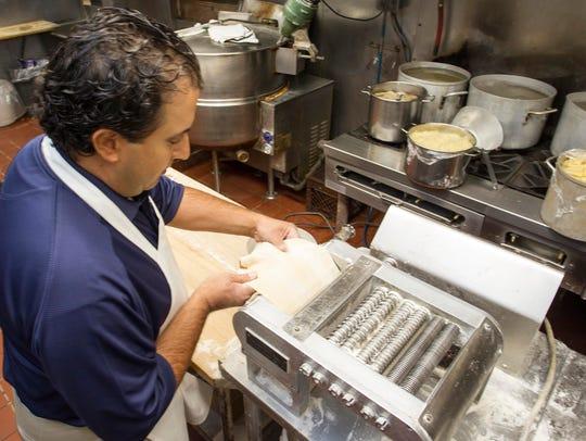 Piero Lisio make fresh pasta at Little Venice in Binghamton