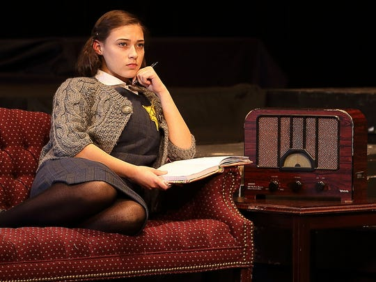 Anastasia Korbal as Anne Frank in the Mainstage Center for the Arts production of 'The Diary of Anne Frank.'
