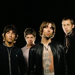 In happier times: Oasis, from left, Gem, Noel Gallagher, Liam Gallagher, Andy Bell in 2008.