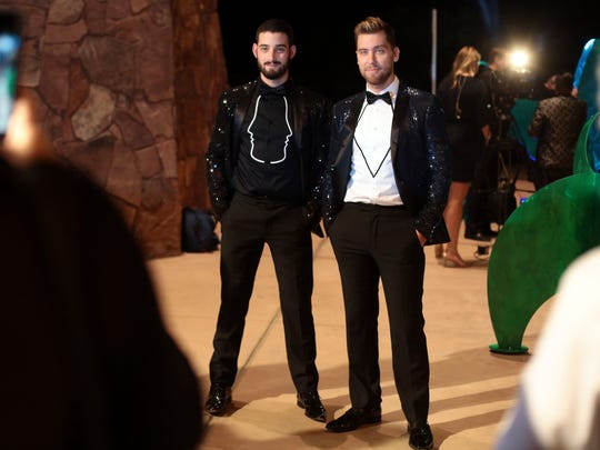 Lance Bass and Michael Turchin attend the Steve Chase