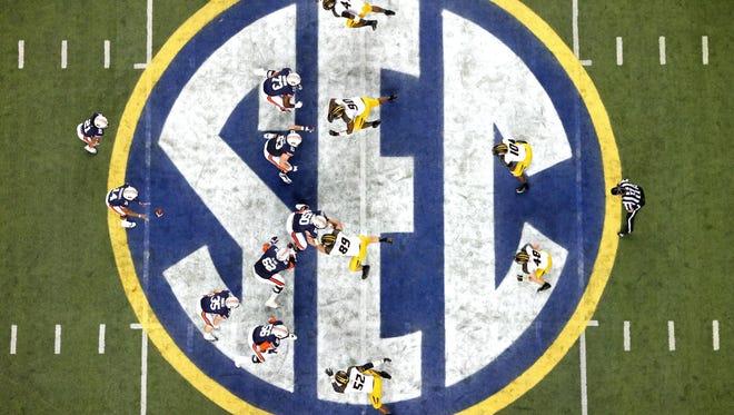 Auburn faces Missouri in the SEC Championship Game at the Georgia Dome in 2013.