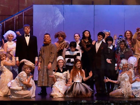 """The cast of Gibraltar High School's production of """"The"""