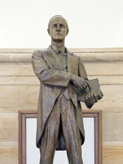 This statue of N.C. Gov. Charles Brantley Aycock was