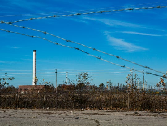 The smokestack is the only remaining structure from