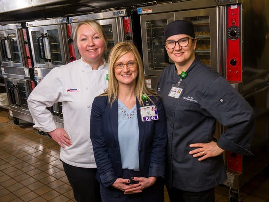 Executive chef Ellen Ritter (from left), director of