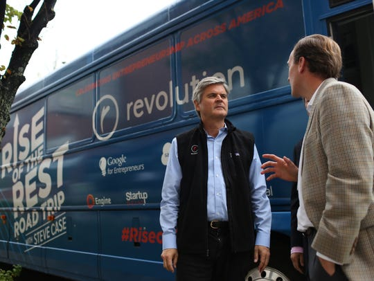 AOL co-founder Steve Case is pictured here in Buffalo,