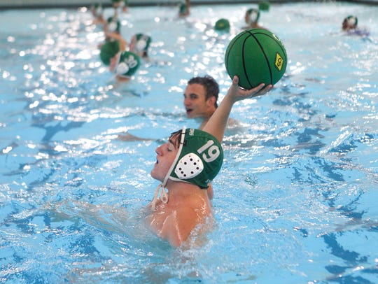 Sycamore's water polo captain Bryce Gwyn takes part