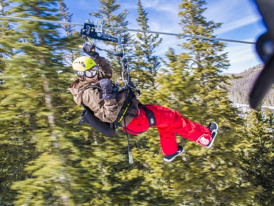 The Ski Apache ZipTour opens over Thanksgiving weekend. It's about a one and a half hour tour, running 8,900 feet, making it one of the longest in the world.