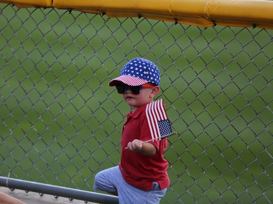 A young fans enjoys the Indianapolis Indians at Victory Field on the Fourth of July.