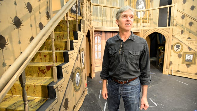 """Eric Nones is the set decorator and designer for """"The Addams Family: A New Musical,"""" the Fremont Community Theatre production opening Friday."""