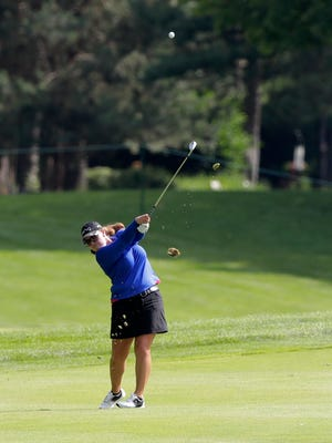 LPGA golfer Laura Gonzalez-Escallon hits from the 6th fairway in 1st round action on day 1 of the Thornberry Creek LPGA Classic on Thursday, July 6, 2017, in Hobart, Wis. Adam Wesley/USA TODAY NETWORK-Wisconsin