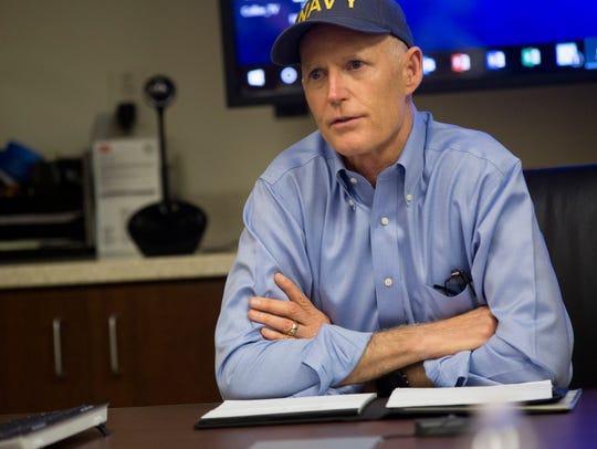 Florida Gov. Rick Scott speaks with local response