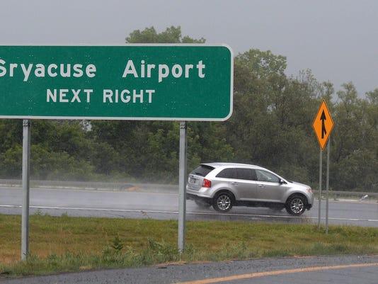 Syracuse-Misspelled Road Sign