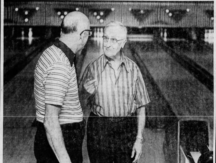 Nov. 9, 1979: Ted Zimmer, right, and Harry Markus.