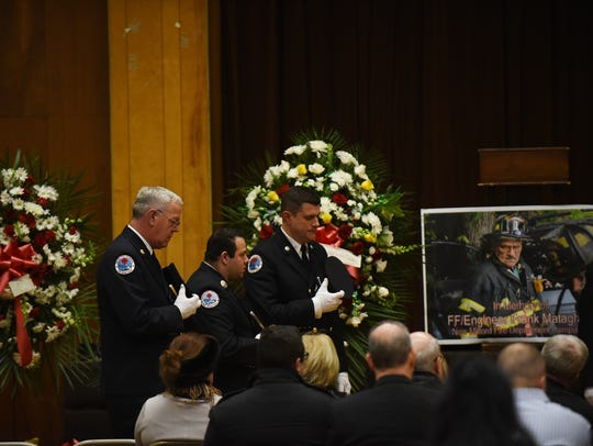 Memorial service for New Milford firefighter Frank