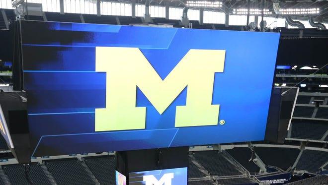 Michigan's block M logo.