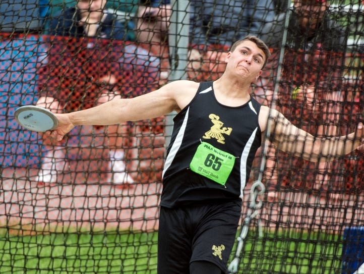 Delone Catholic's Seth Leonard competes in the Class
