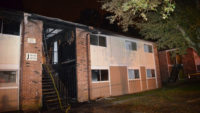 Five people were injured in a Monday morning apartment fire on Van Buren Drive.