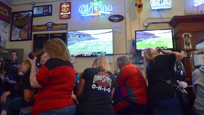 In this file photo, Frosty's Bar and Family Pizza in Put-in-Bay had a packed crowd on a fall Saturday for an Ohio State Buckeye's game.
