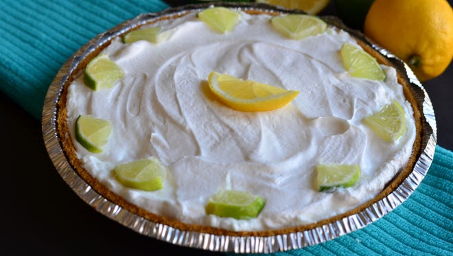 Citrus lovers should enjoy this lemon lime pie which is sweet and tart. It's incredibly easy to make, too.