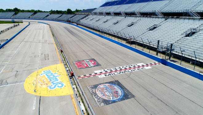 The Milwaukee Mile still bears the markings from previous races but hasn't been used for an oval race since 2015.