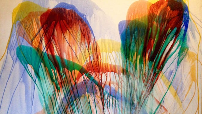 View some never-before-seen works of local legend Jerry Wray at an exhibit featuring her pouring series at 3 p.m. Saturday.