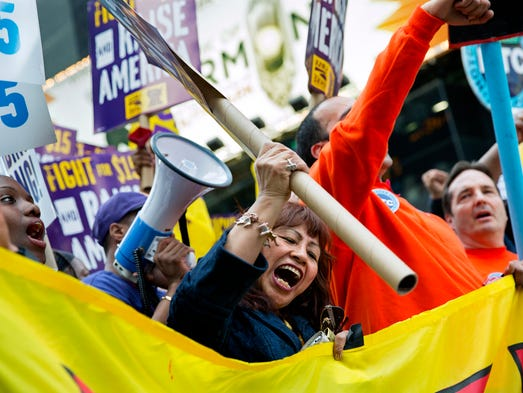 Fast Food Workers Strikes And Protests New York