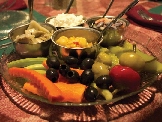 Relish trays are popular before dinner at supper clubs.