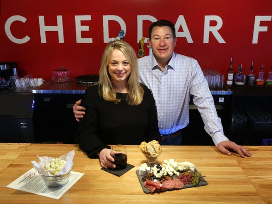Andrea and Scott Robbins, owners of Urban Stead Cheese