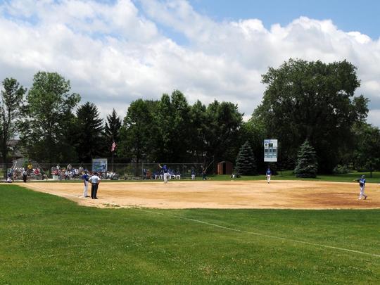 A view of the new Land O Lakes baseball field at Firemans