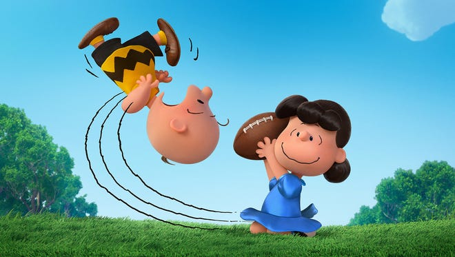 "Charlie Brown gets punked by Lucy and the football yet again in ""The Peanuts Movie."""