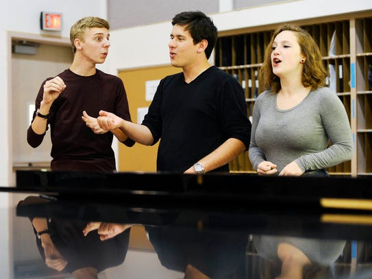York College's a cappella group, YCP Rhapsody members
