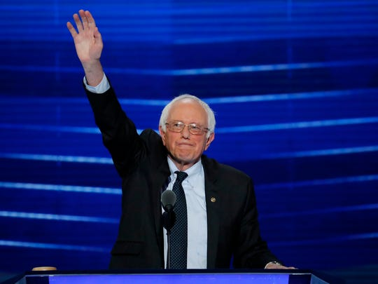 Former Democratic presidential candidate, Sen. Bernie