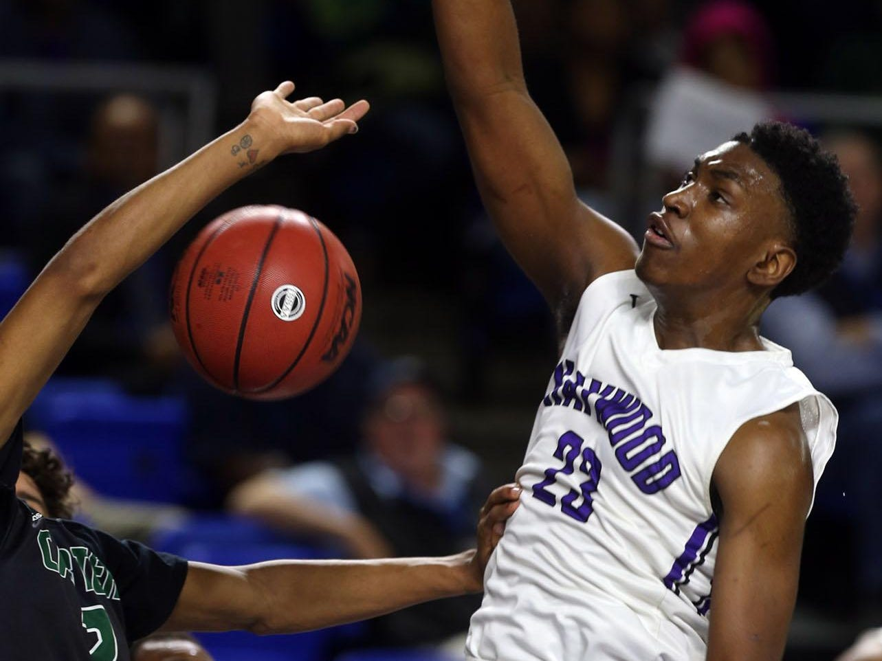 Haywood's Jordan Varnado led the Tomcats to the Class AA state championship in March.