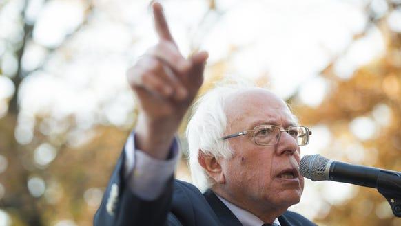 US Senator Bernie Sanders, I-Vt., speaks on Capitol