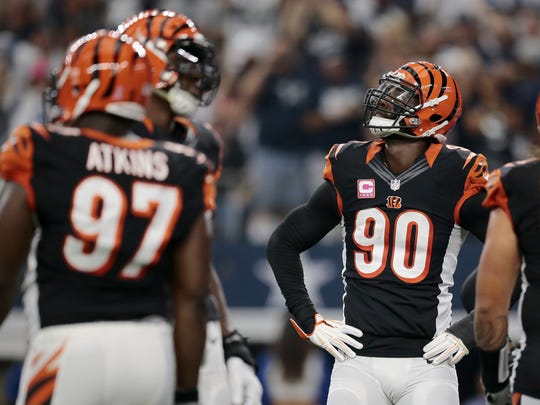 Cincinnati Bengals defensive end Michael Johnson (90)